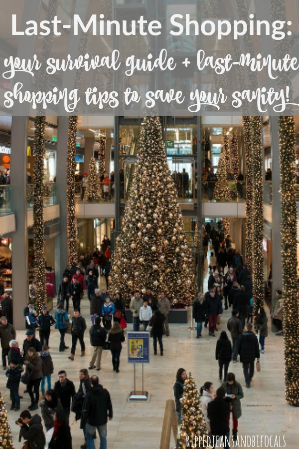 Busy shopping mall at Christmas time