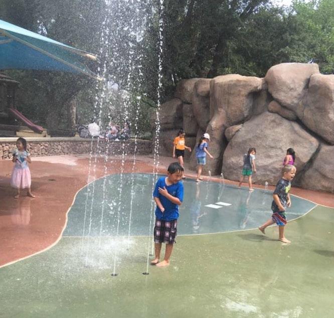 El Paso with kids - The splash pad at El Paso Zoo