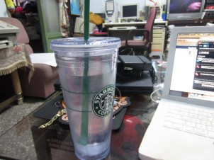 The tumbler that Teej and Martha gave me as a going away gift