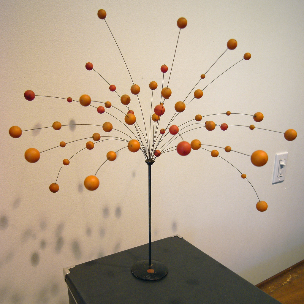 Image of a lamp that looks like a network with nodes