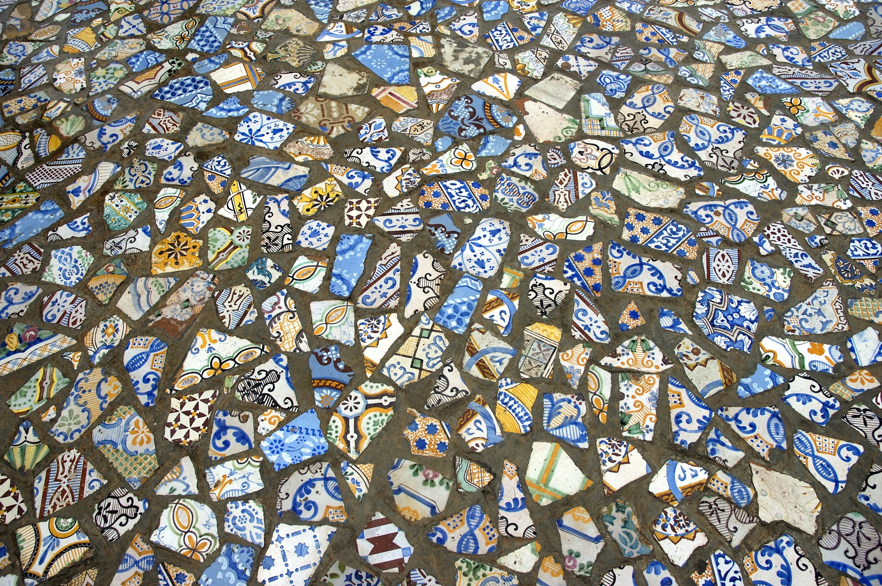 Image of a tiled mosaic floor