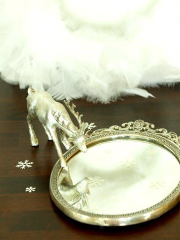 silver reindeer and antiquemirror
