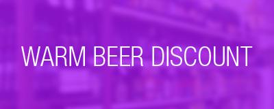 warm beer discount