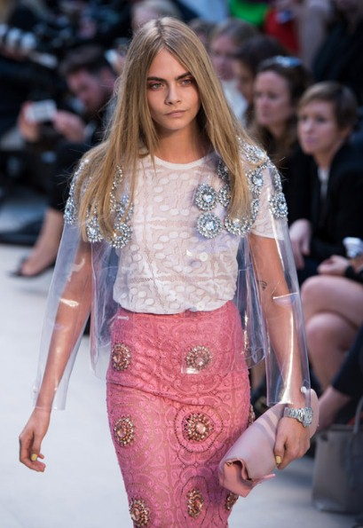 Cara Delevingne Burberry LFW SS14