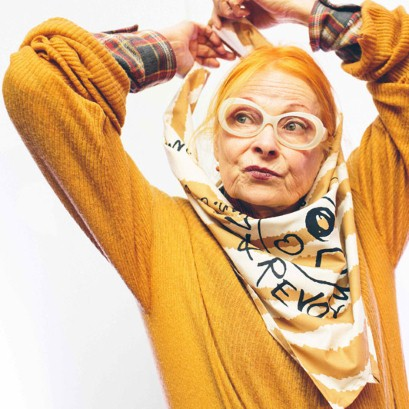 Vivienne Westwood's designs scarves for Lush