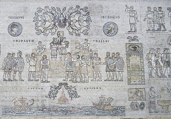 Mozaic la Muzeul de Arheologie Adamclisi