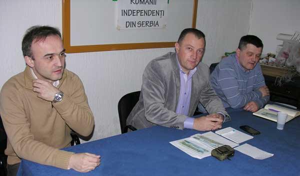 Prof. dr. univ. Marin Negru, vicepreședinte RIS, dr. Dorinel Stan, președinte RIS și Călin Iorga, secretar