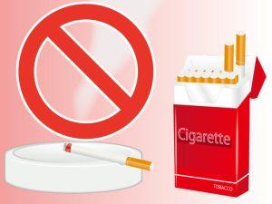 タバコは決められた場所で吸う