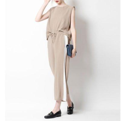 titivate セットアップ アスレジャーファッション サイドライン
