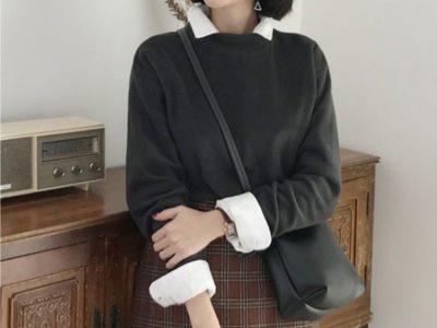 カジュアル トレーナー スウェット 韓国ファッション