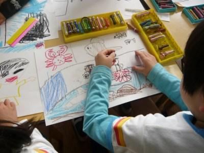 幼稚園 お絵描き お勉強 心配 年中入園