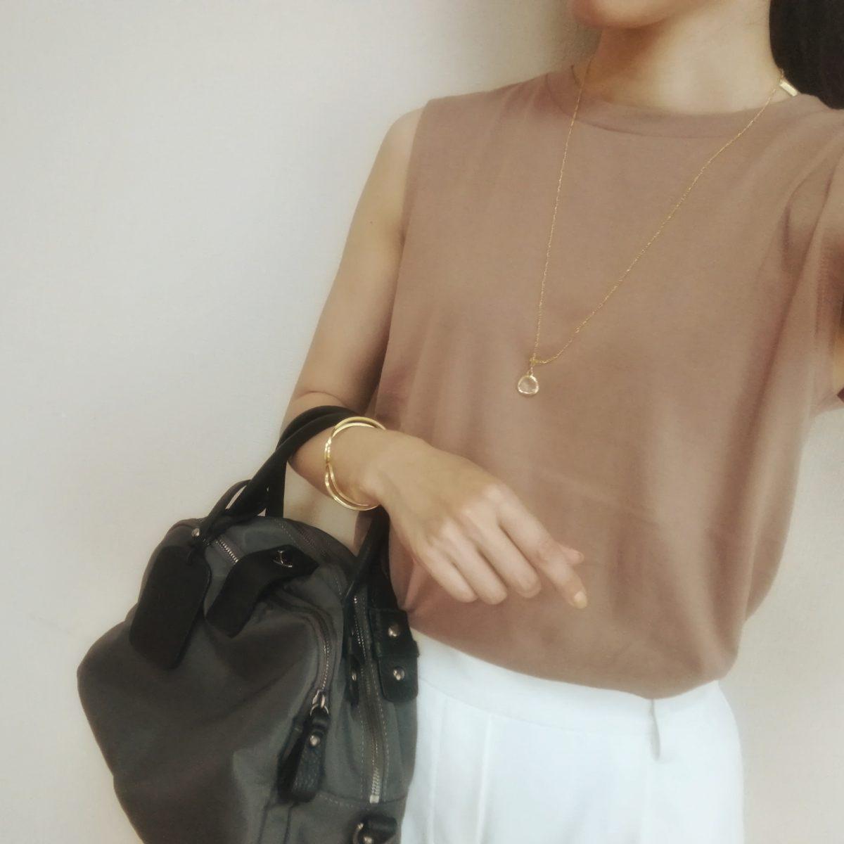 GU ヘイニ ベージュ 30代ママファッション