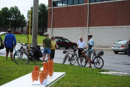 At our first World Refugee Day Celebration, PedNet led a bike tour to the refugee garden.