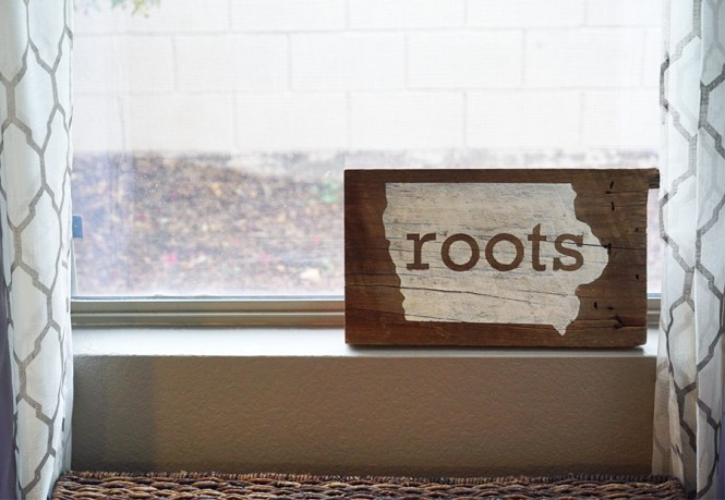 Wood Sign on the Window Sill