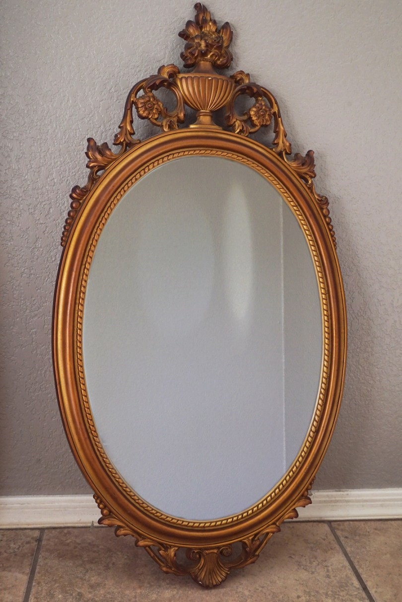 Chalk Painting Antique Mirror
