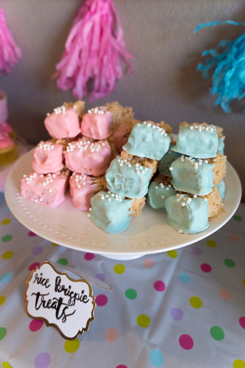 Rice Krispies - Gender Reveal Party