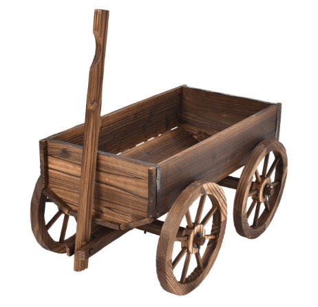 Fall Decor Wooden Wagon