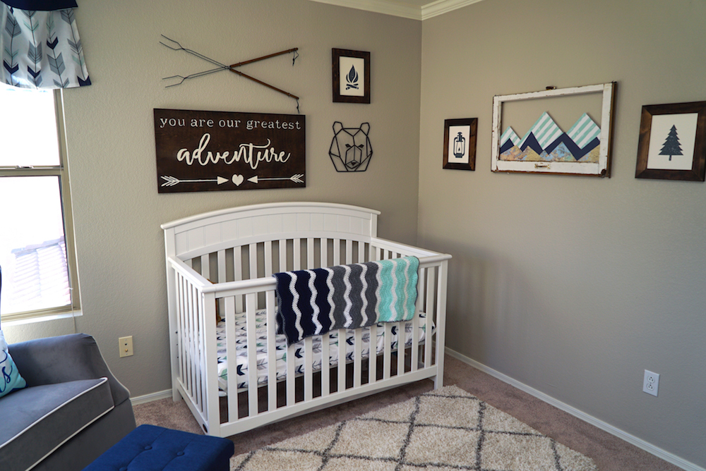 Adventure Nursery - After, Crib, Decor