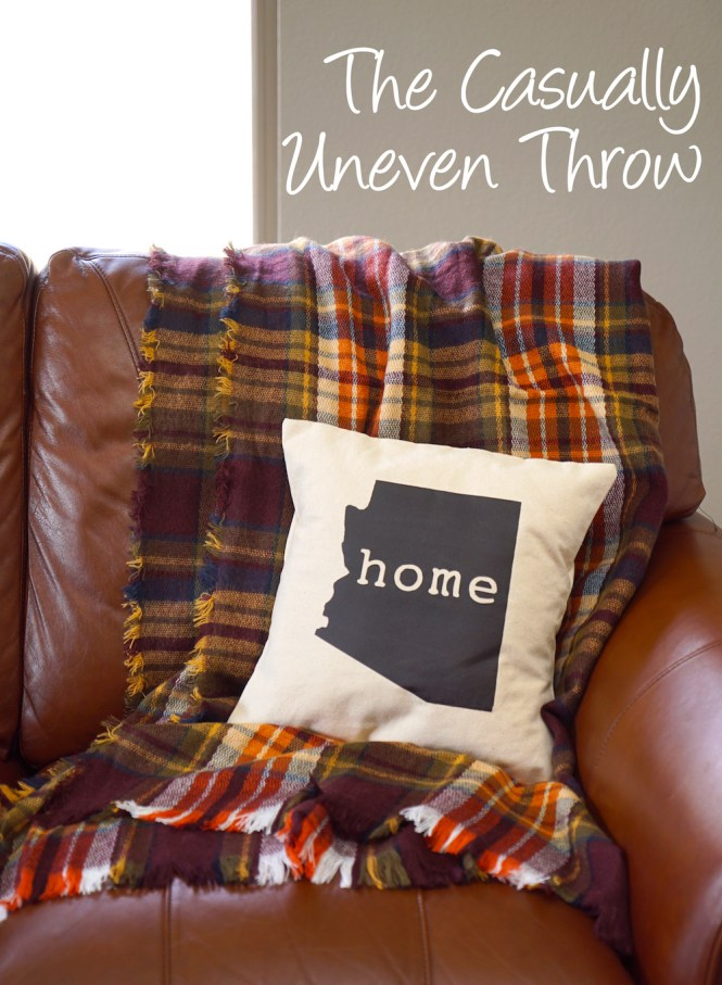 how to style a throw blanket - casually uneven throw