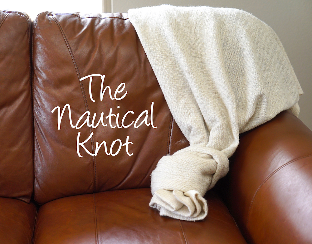 how to style a throw blanket - knot