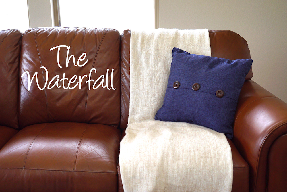 how to style a throw blanket - waterfall