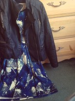 My closet: Mossimo dress, Joujou vegan leather jacket