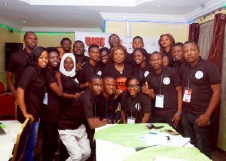 Founder of Rise Networks, Mrs. Toyosi Akerele-Ogunsiji with the Fellows of the 2016 Nigerian Student Leaders Program. #NSLP2016