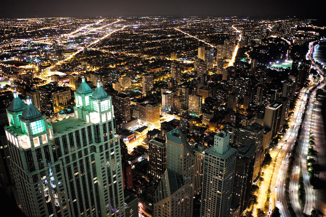 The view from an open window on the 92nd floor of the John Hancock Center in Chicago. Photo Credit: Roman Boed/ Flickr (CC By 2.0)