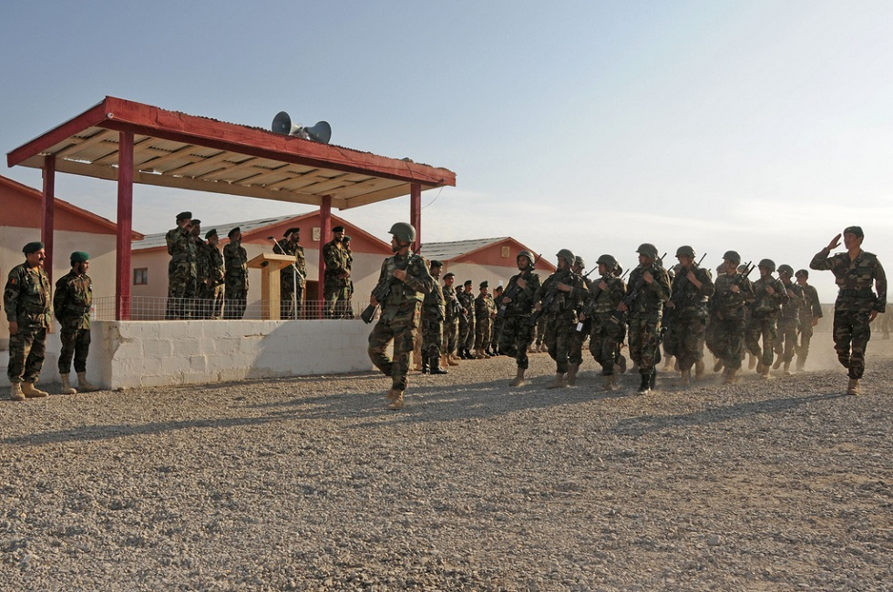 Afghan National Army soldiers drill in Tarin Kowt, Afghanistan, November of 2008. Photo Credit: Afghanistan Matter/Flickr (CC by 2.0)