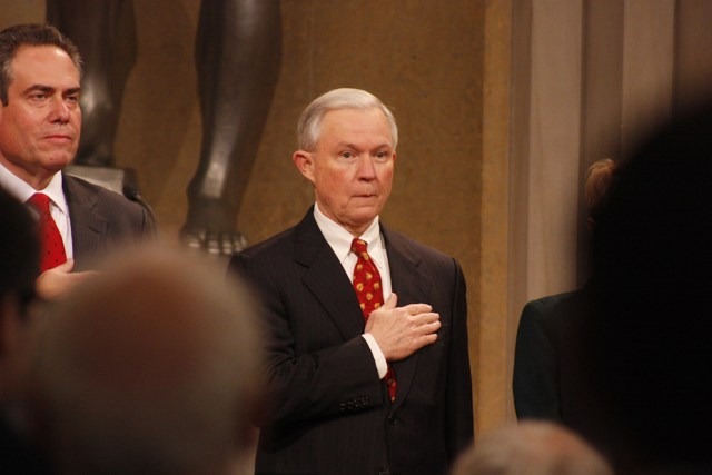 Senator Jeff Session continues to be a strong Trump supporter. Photo Credit: Ryan J. Reilly/ Flickr (CC By 2.0)