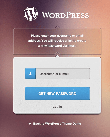 WordPress Password Page