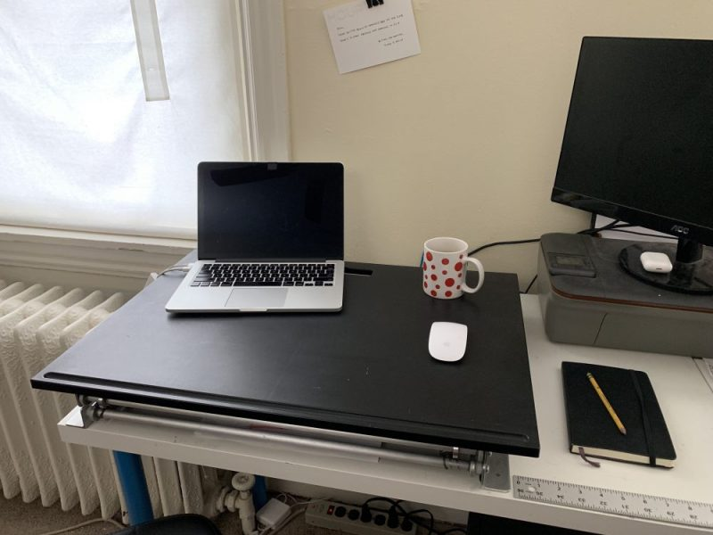 standing desk down position