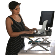 adjustable desktop workstation