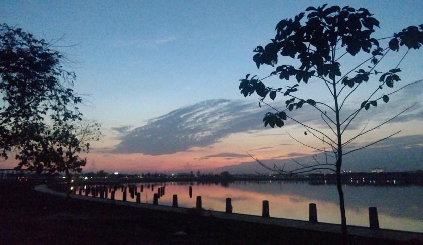 Sunset jogging session