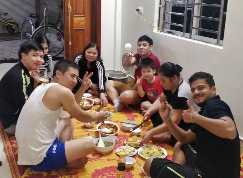 Family dinner—End of Day 29
