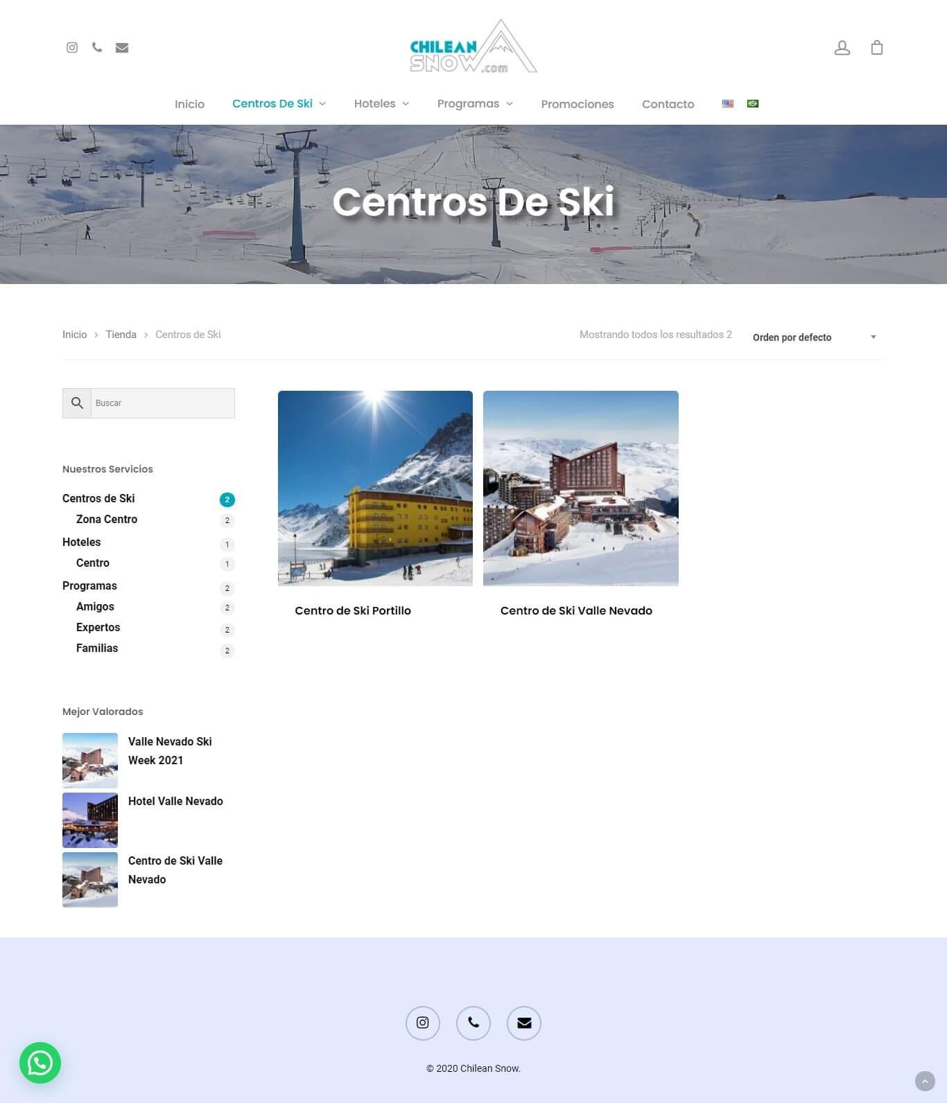 Chilean Snow centros de ski