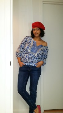 Peasant Blouse and a Beret