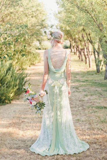 Wind In The Willows Wedding Rising out of the ocean blog claire pettibone green dress