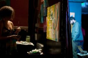 Ariel Lowell Painting Live @ Ohana Tree