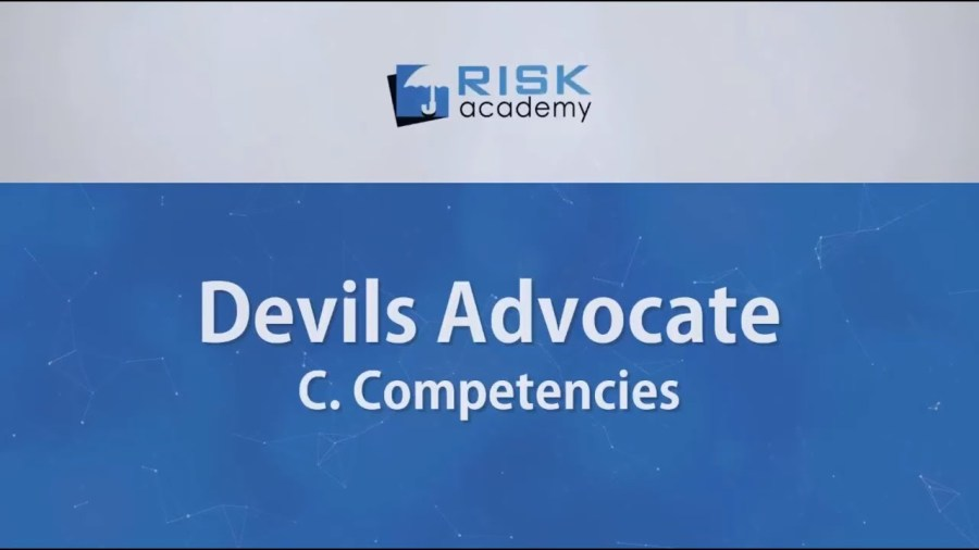 86. Devils advocate – Competencies (part c) – Alex Sidorenko