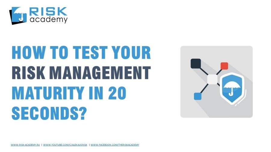 64. Testing risk management team maturity in 20 seconds