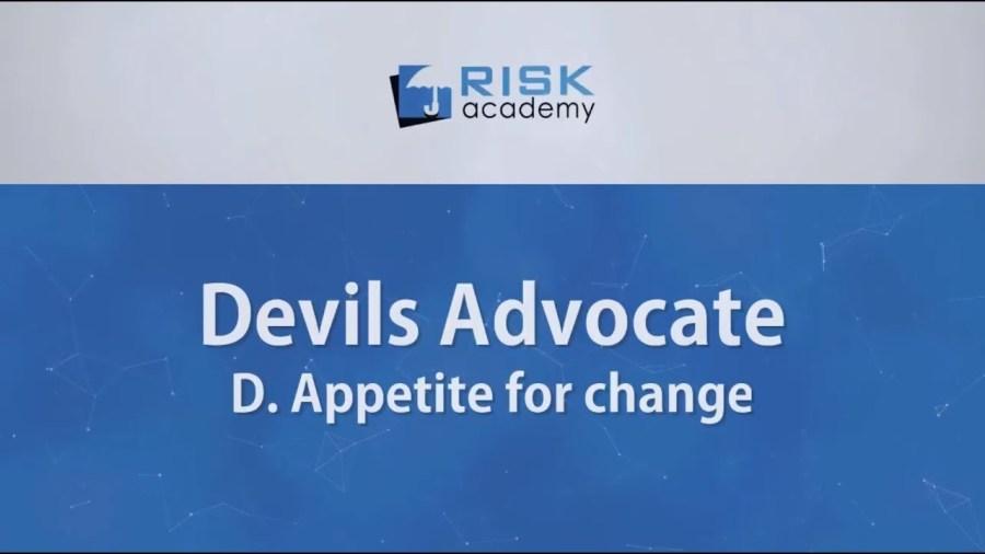 87. Devils advocate – Appetite for change (part d) – Alex Sidorenko