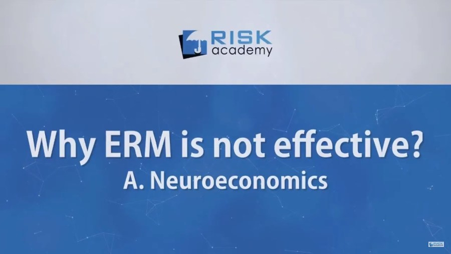 102. Why ERM is not effective – cognitive biases