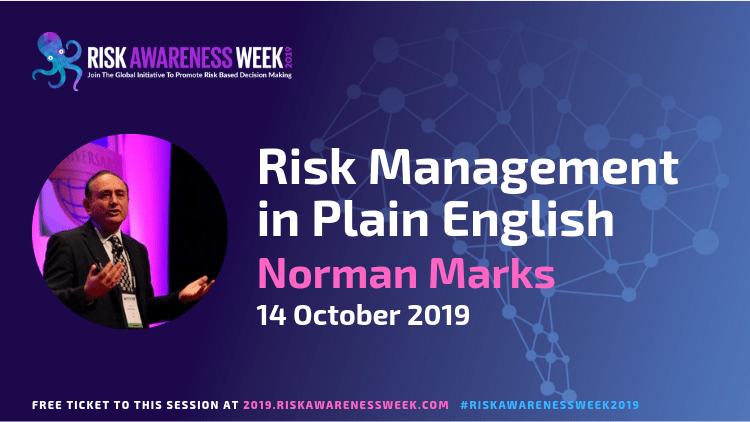 Risk Management in Plain English #riskawarenessweek2019