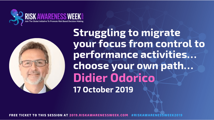 REPLAY: Struggling to migrate your focus from control to performance activities… choose your own path… #riskawarenessweek2019