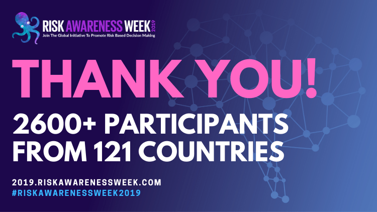 Thank you for making #riskawarenessweek2019 such a huge success!