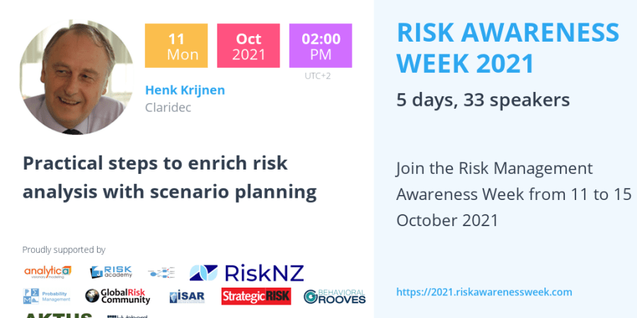 RAW2021 – Practical steps to enrich risk analysis with scenario planning