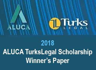 2018 ALUCA TurksLegal Scholarship Winner's Paper