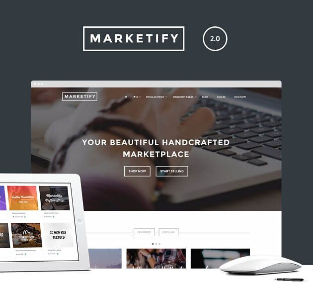A screenshot of the Marketify theme.