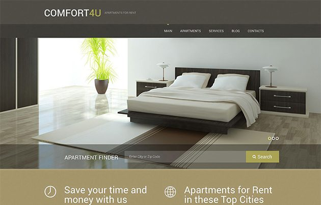 Apartments for Rent WordPress Theme